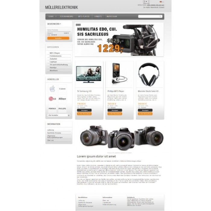 theme - High Tech - Responsive theme: nt544 - Orange Grey - 2