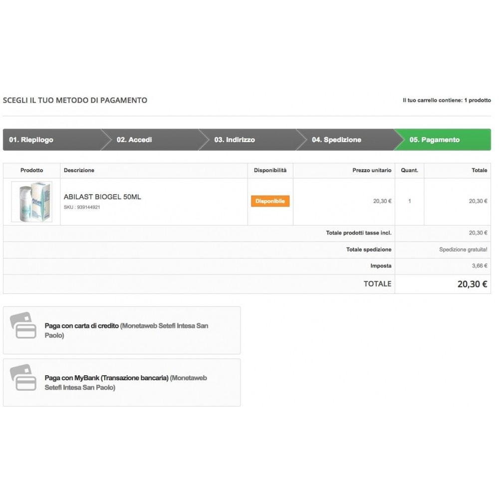 module - Pagamento con Carta di Credito o Wallet - Carte di Credito Intesa Sanpaolo Setefi Monetaweb - 4