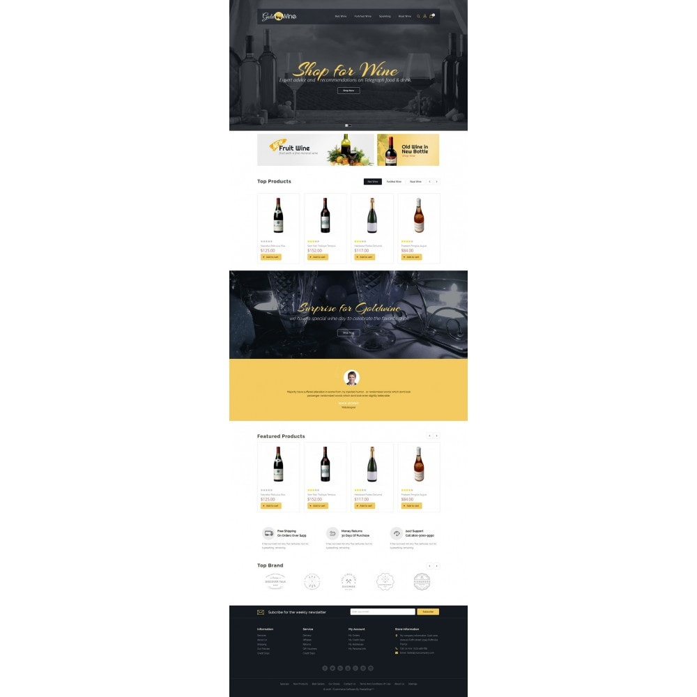 theme - Drink & Wine - Gold Wine Store - 2