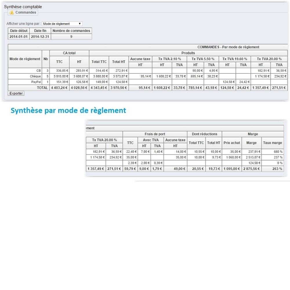 module - Comptabilité & Facturation - Synthèse comptable avec TVA - 11