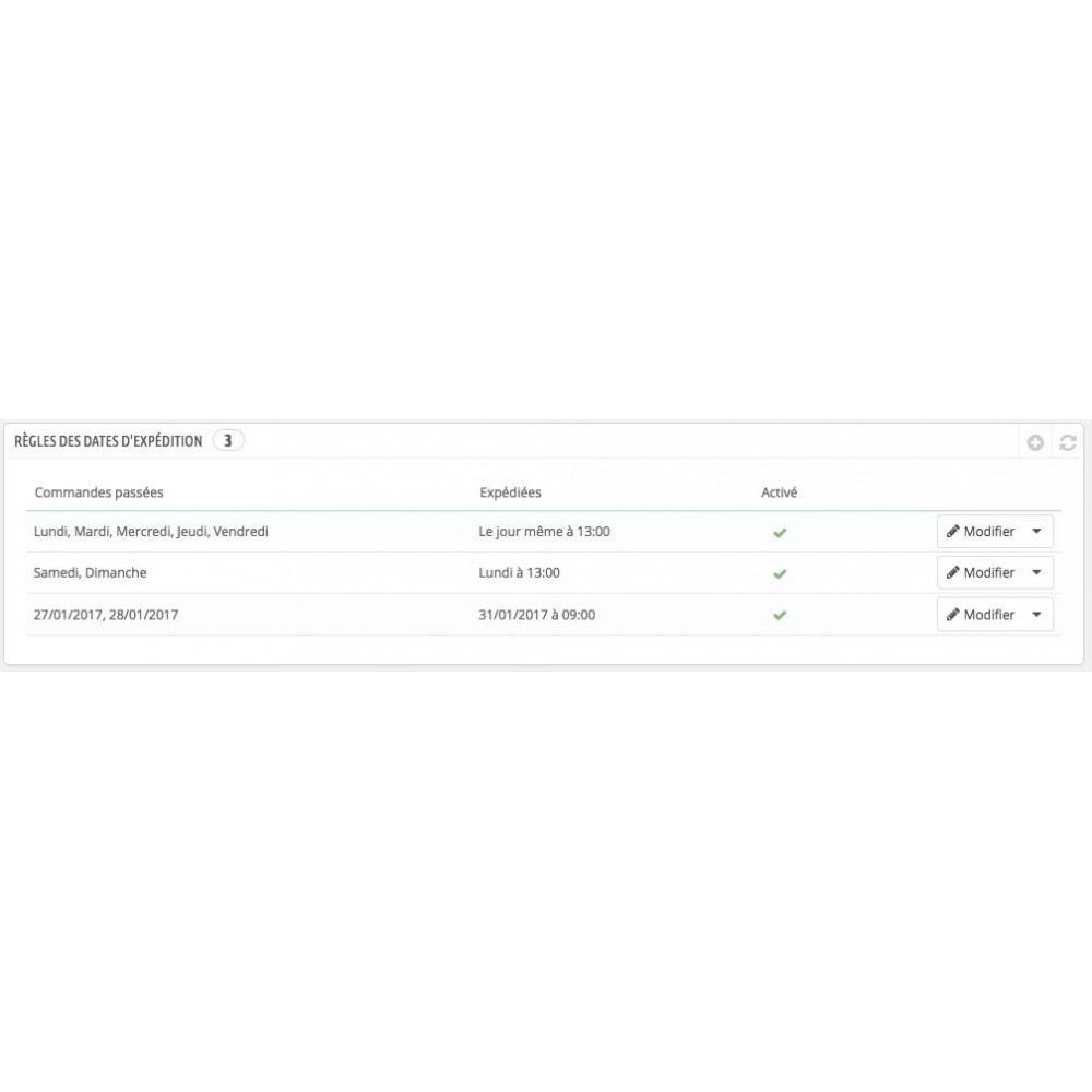 module - Date de livraison - Date d'expédition avec minuteur, compte à rebours - 4