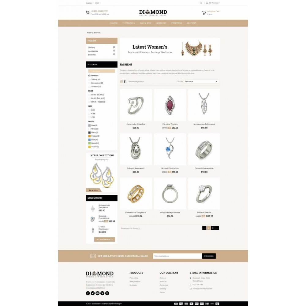 theme - Jewelry & Accessories - Diamond Jewelry Store - 3