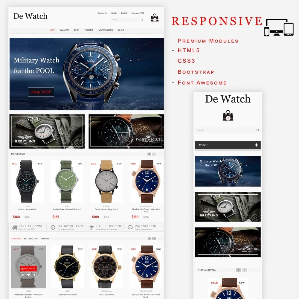 theme - Jewelry & Accessories - De Watche - Watches and Accessories Store. - 1