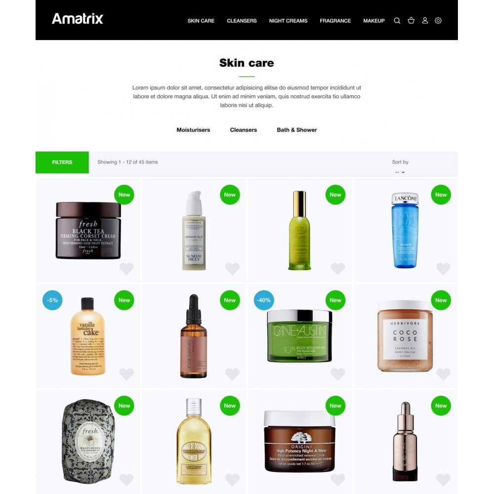 theme - Salute & Bellezza - Amatrix Cosmetics - 4