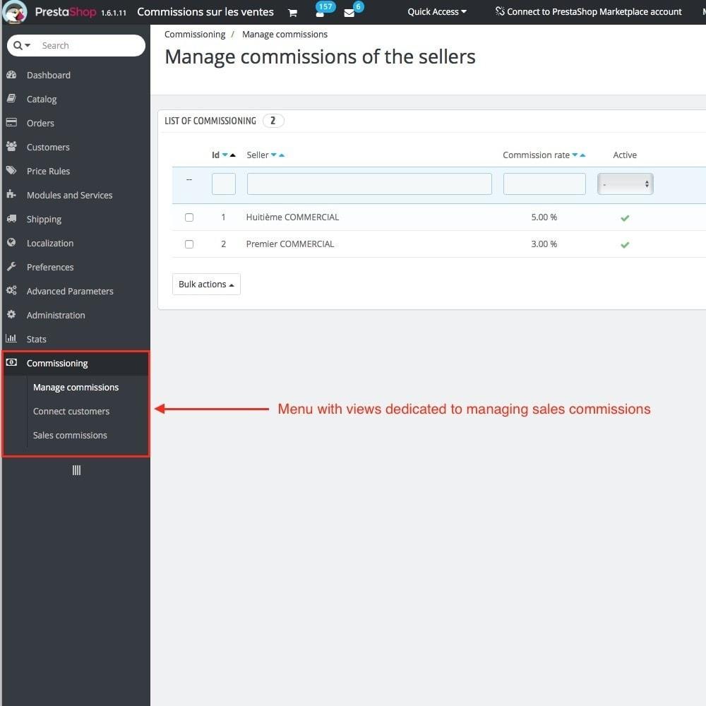 module - Бухгалтерии и выставления счетов - Sales commissions - 3