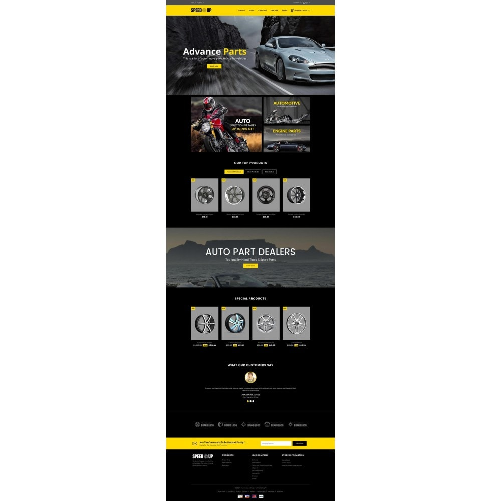 theme - Carros & Motos - SpeedUp Auto Store - 2