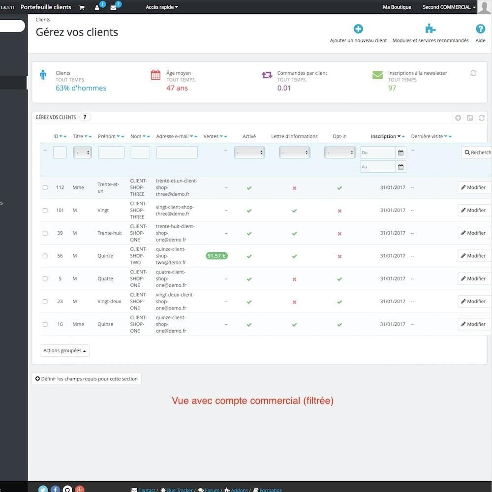 module - Gestion des clients - Portefeuille clients - 9
