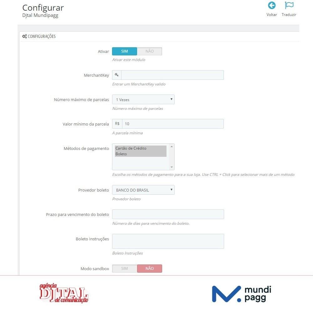 module - Pagamento por cartão ou por carteira - Mundipagg - 2