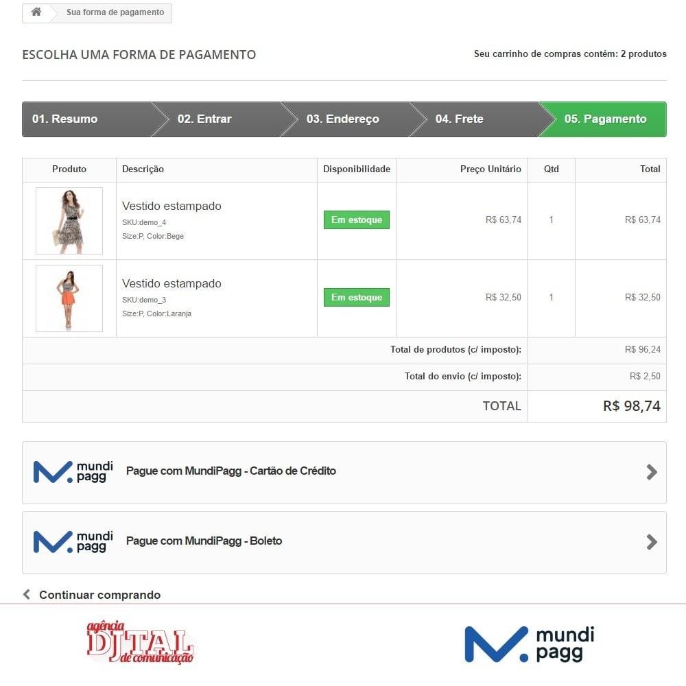 module - Pagamento por cartão ou por carteira - Mundipagg - 3
