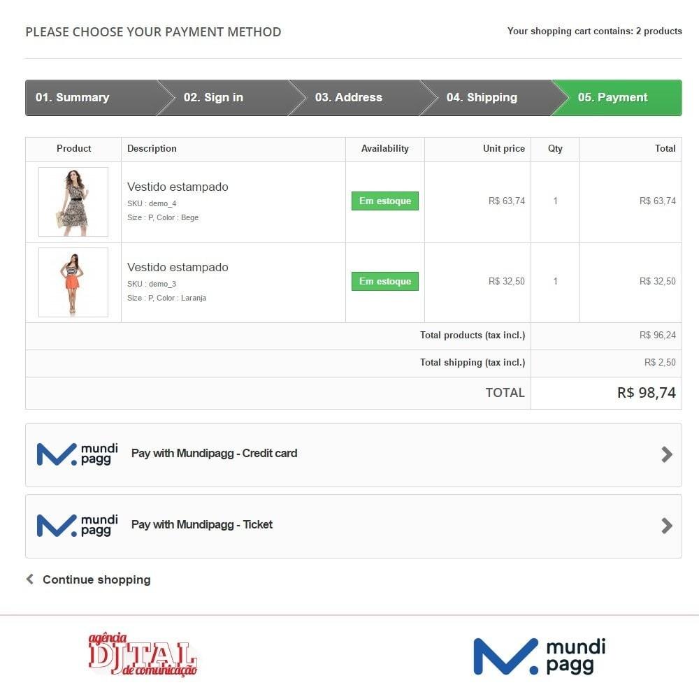module - Pagamento con Carta di Credito o Wallet - Mundipagg - 3