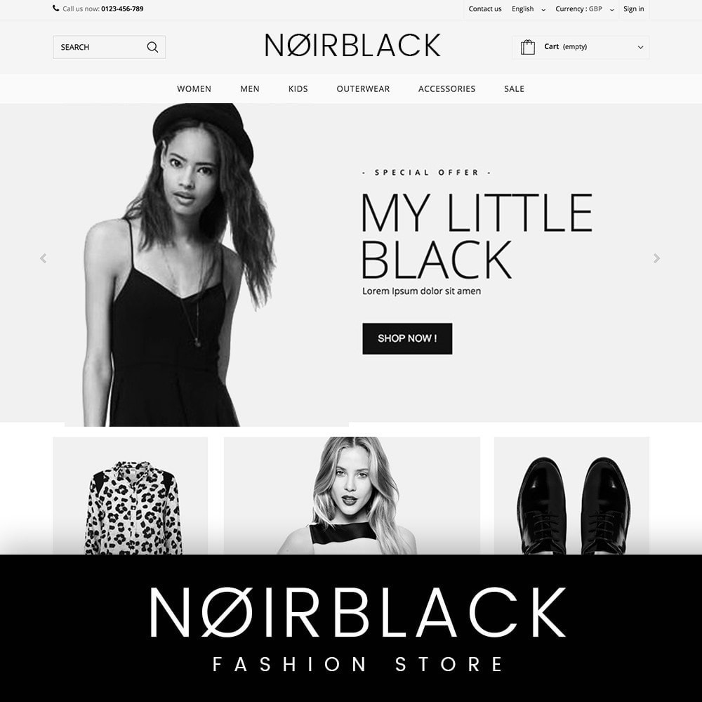 theme - Mode & Chaussures - NOIRBLACK - 1