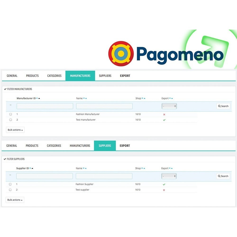 module - Comparateurs de prix - Export to Pagomeno - 5
