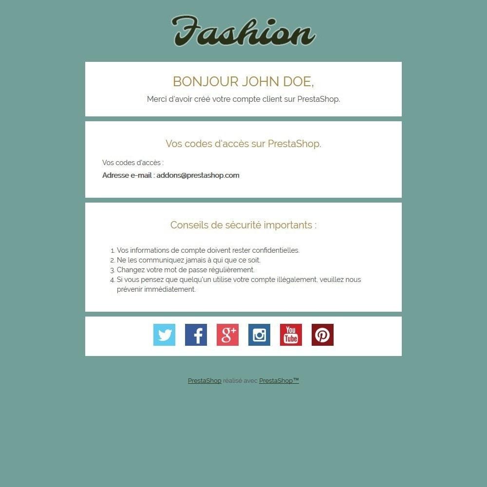 email - Templates d'e-mails PrestaShop - Fashion - 2
