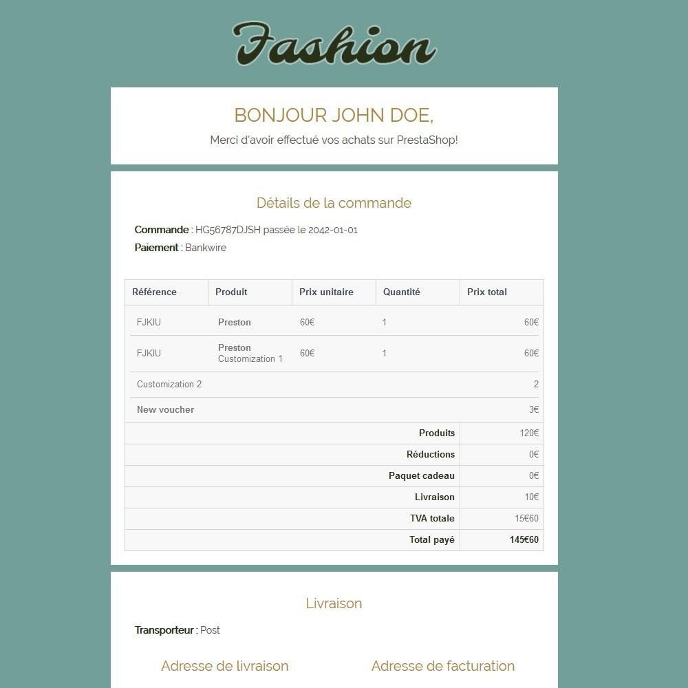 email - Templates d'e-mails PrestaShop - Fashion - 3