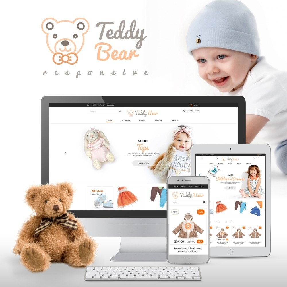 theme - Kids & Toys - Teddy Bear - 1