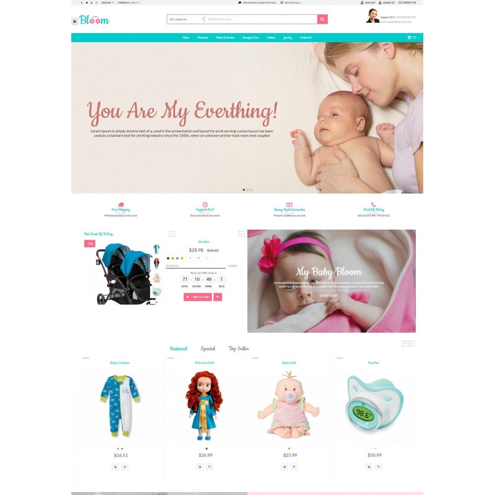 theme - Kids & Toys - MomBaby Kids Store - 2