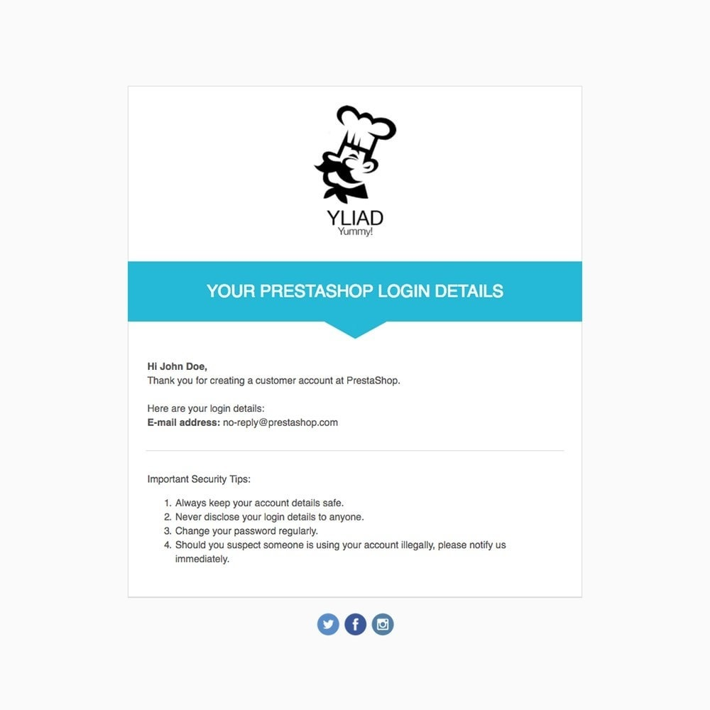 email - Email templates PrestaShop - Yliad - Email templates - 3