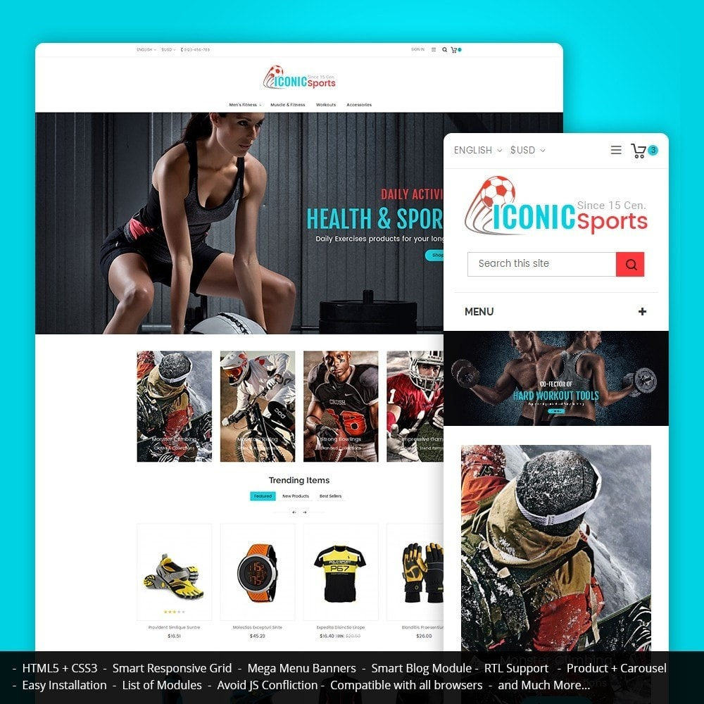 theme - Sports, Activities & Travel - Iconic Sports Store - 1