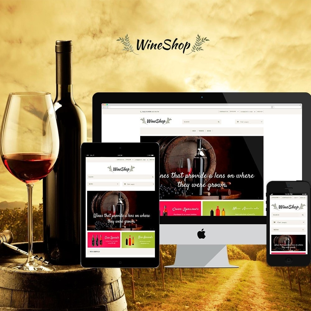theme - Drink & Wine - WineShop - 1