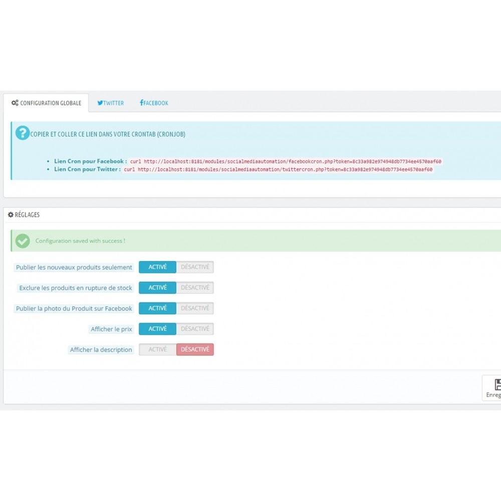 module - Produits sur Facebook & réseaux sociaux - Auto Post Products to Facebook and Twitter Network - 8