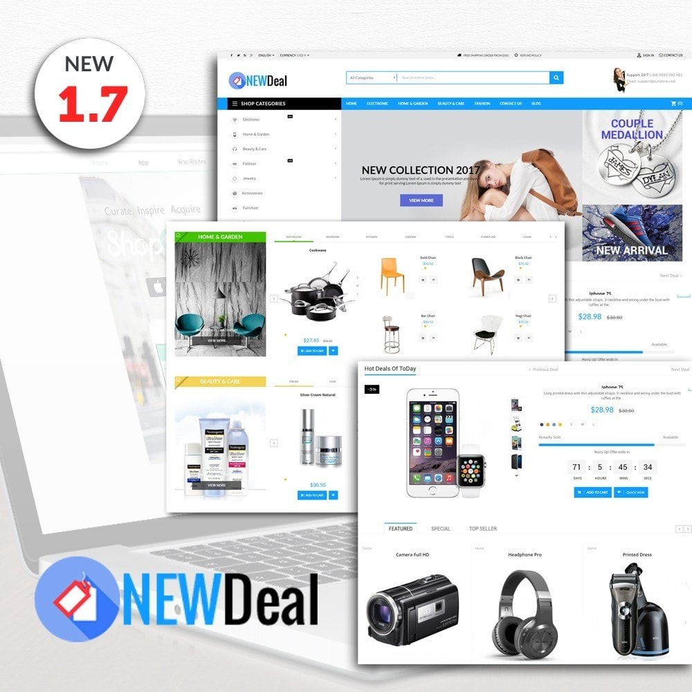 theme - Elektronica & High Tech - New Deals Super Market - 1