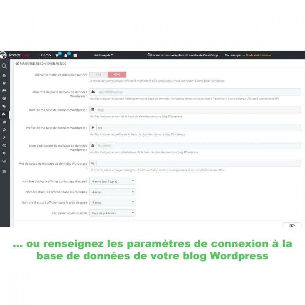 module - Blog, Forum & Actualités - Mes actus Wordpress - 5