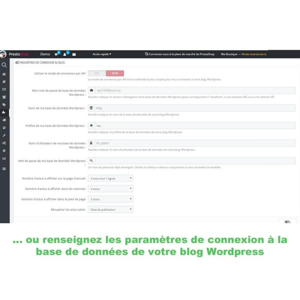 module - Blog, Forum & Actualités - Mes actus Wordpress - 5