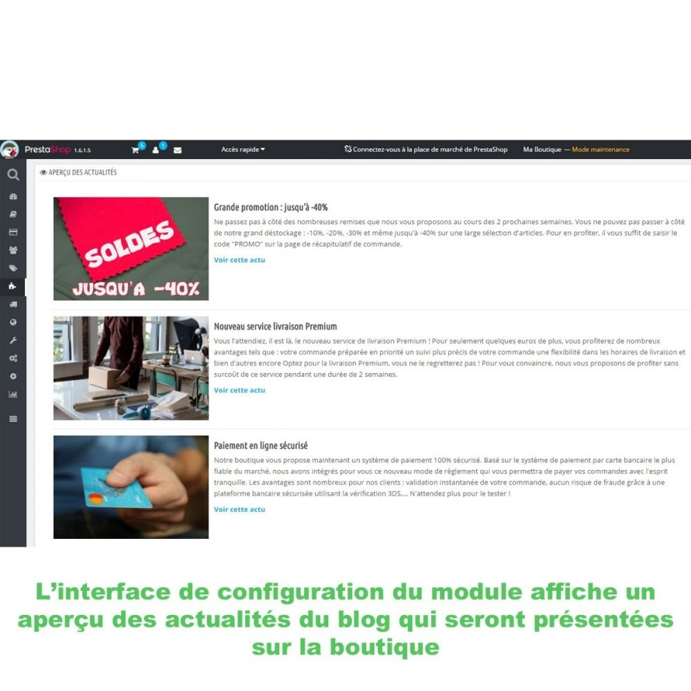 module - Blog, Forum & Actualités - Mes actus Wordpress - 6