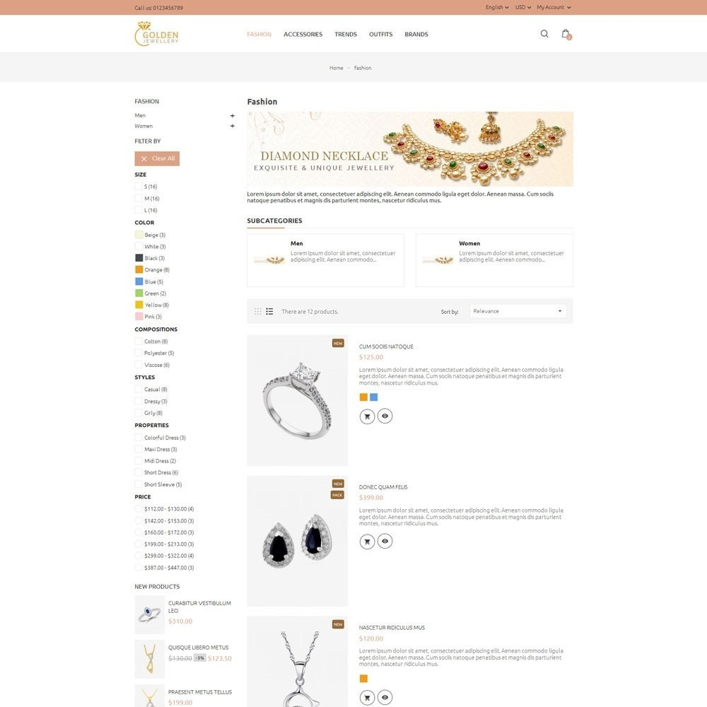 theme - Jewelry & Accessories - Golden Jewellery Store - 4