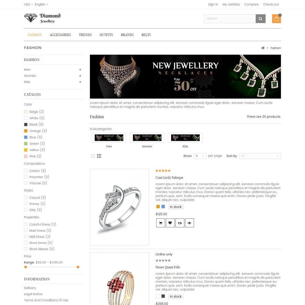 theme - Ювелирные изделия и Аксессуары - Diamond Jewellery Store - 4