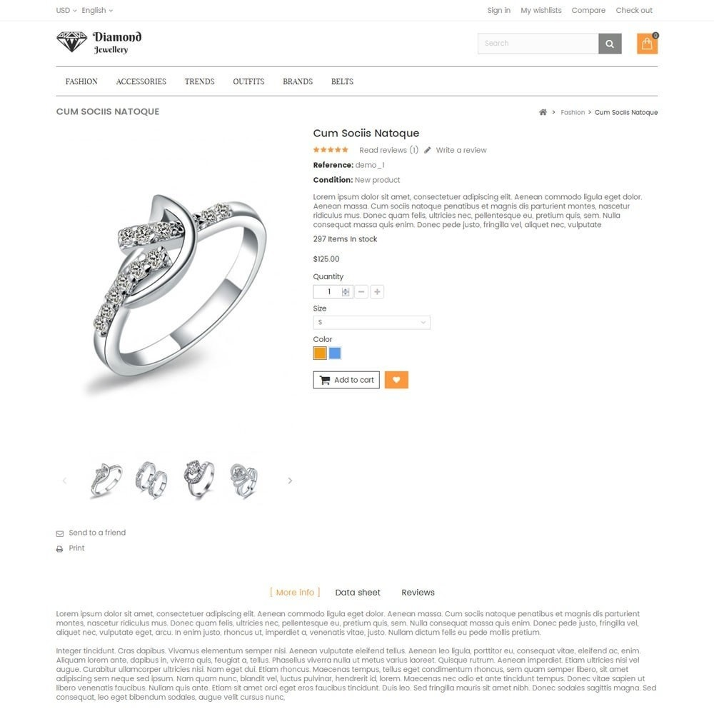 theme - Ювелирные изделия и Аксессуары - Diamond Jewellery Store - 5