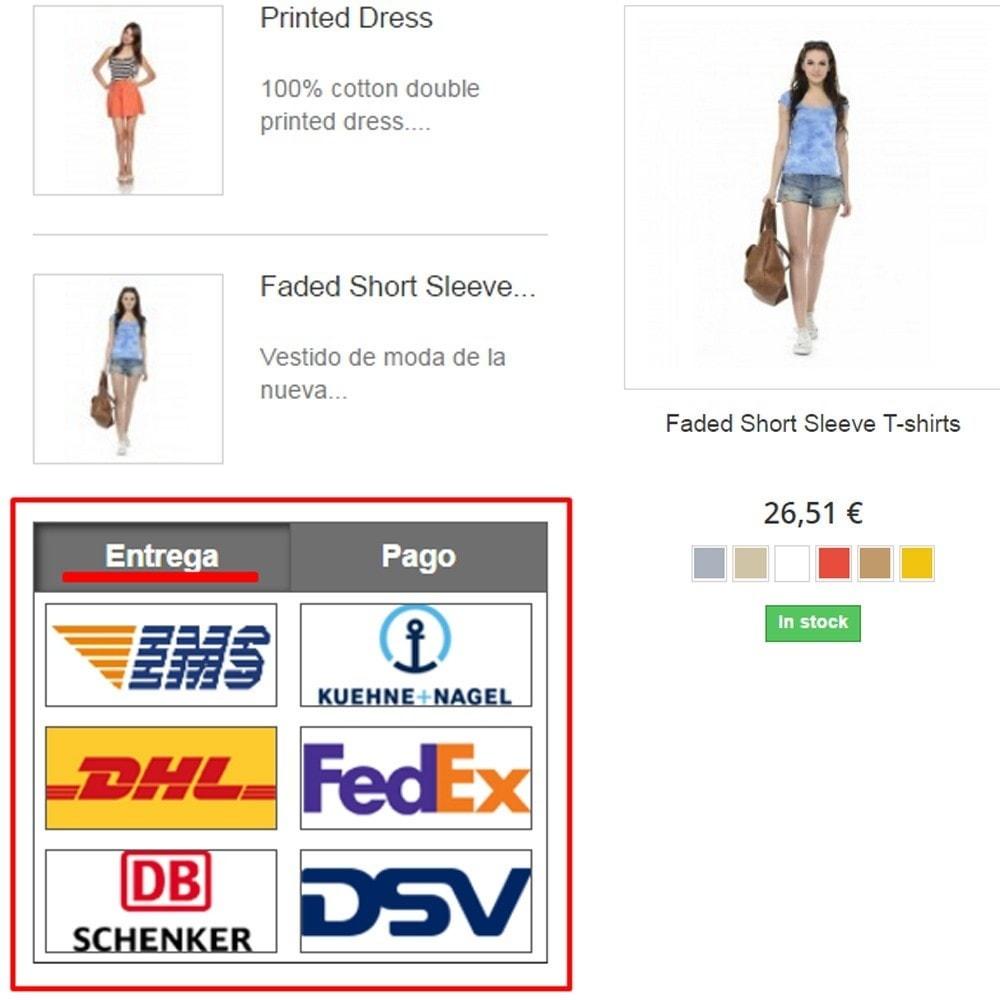 module - Personalización de la página - El pago y la entrega del logotipo - 1