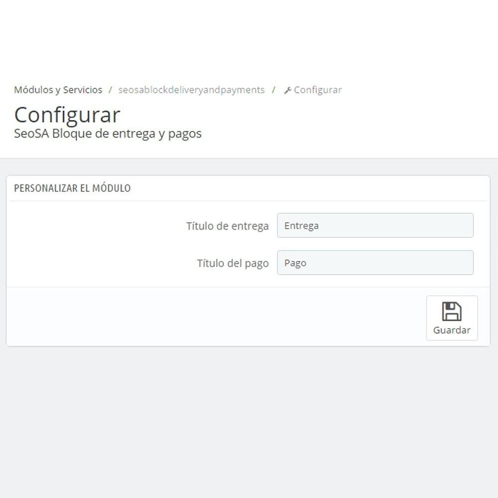 module - Personalización de la página - El pago y la entrega del logotipo - 5