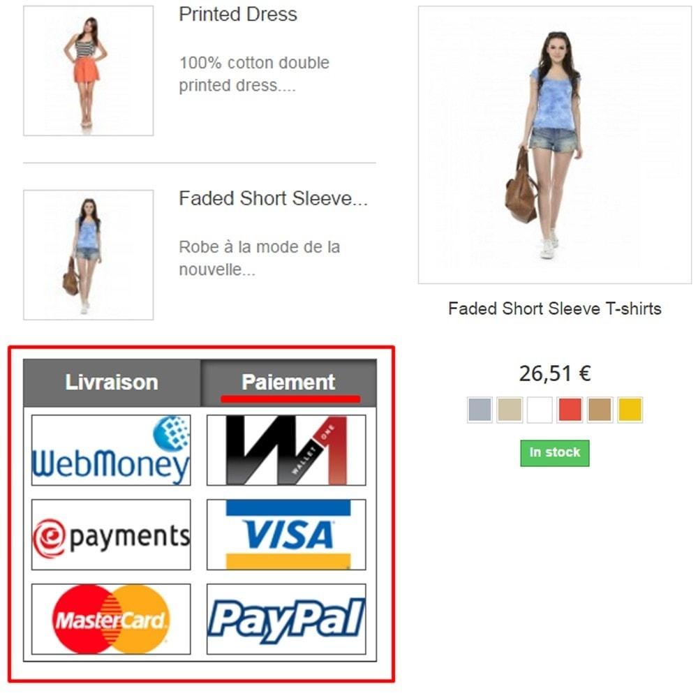module - Personnalisation de Page - Paiement et livraison Logo - 2
