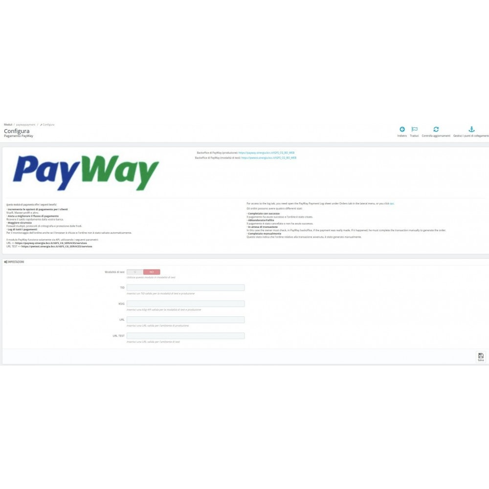 module - Paiement par Carte ou Wallet - Pay Way Payment - 3