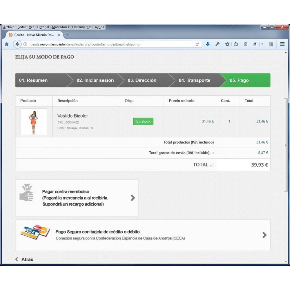 module - Pago con Tarjeta o Carteras digitales - CECA TPV PS16 Pago seguro con tarjeta de crédito SHA2 - 4