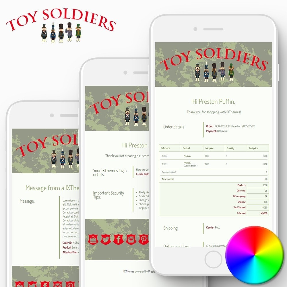 email - Template di e-mail PrestaShop - Toy Soldiers - Email templates - 1