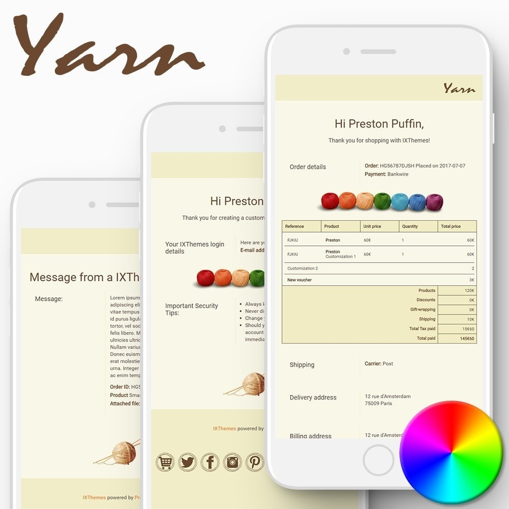 email - Template di e-mail PrestaShop - Yarn - Email templates - 1