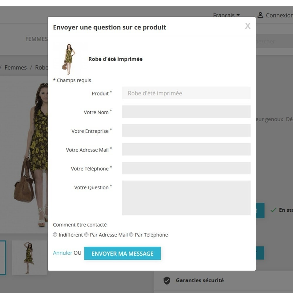 module - Contactformulier & Enquêtes - Ajax Contact Form in Product page - 4