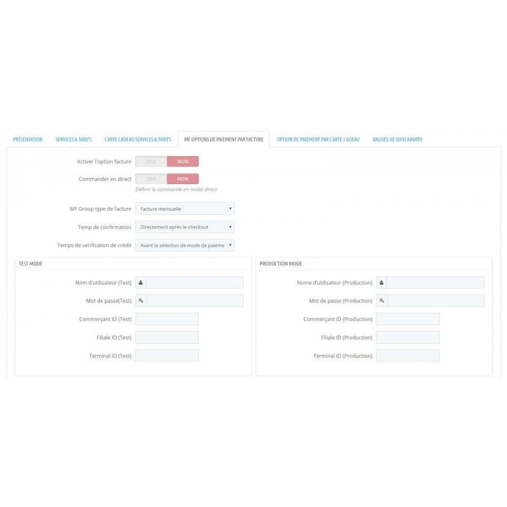 module - Paiement par Facture - Achat sur facture avec paiement partiel - 3