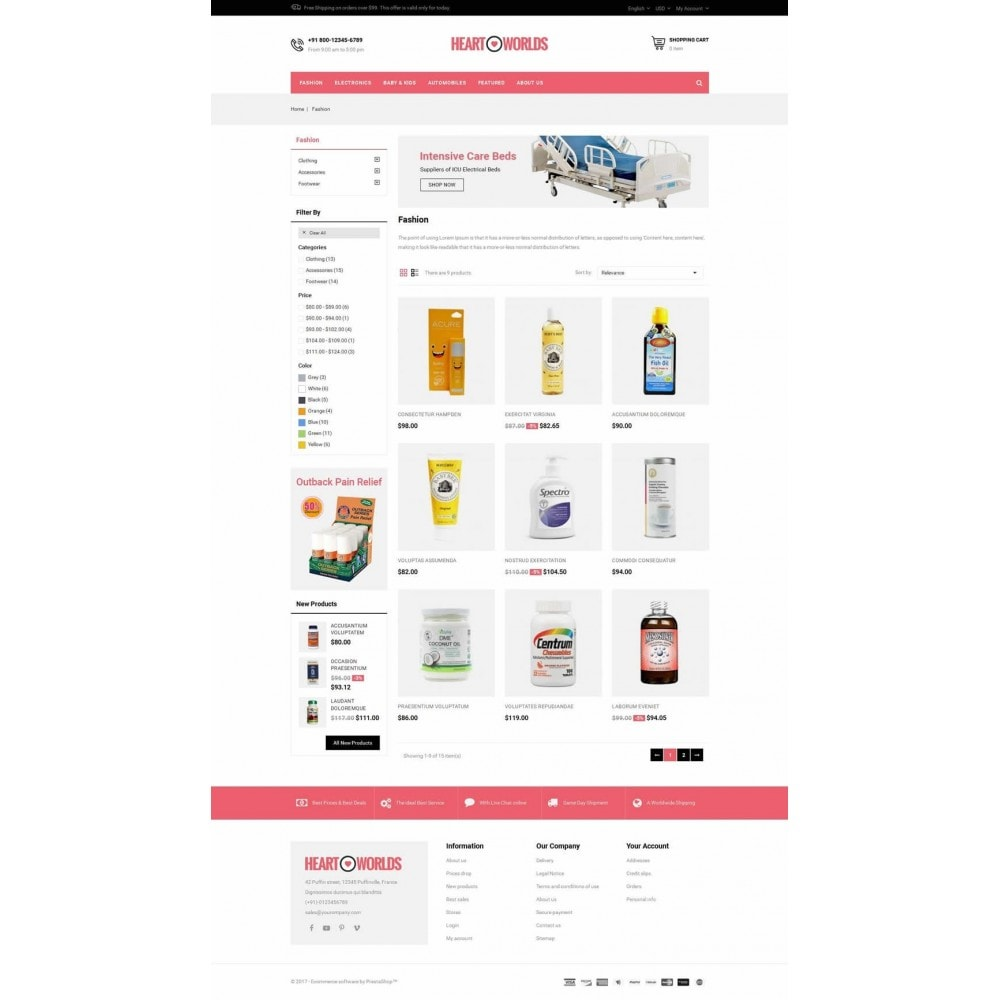 theme - Health & Beauty - Heart World Store - 3