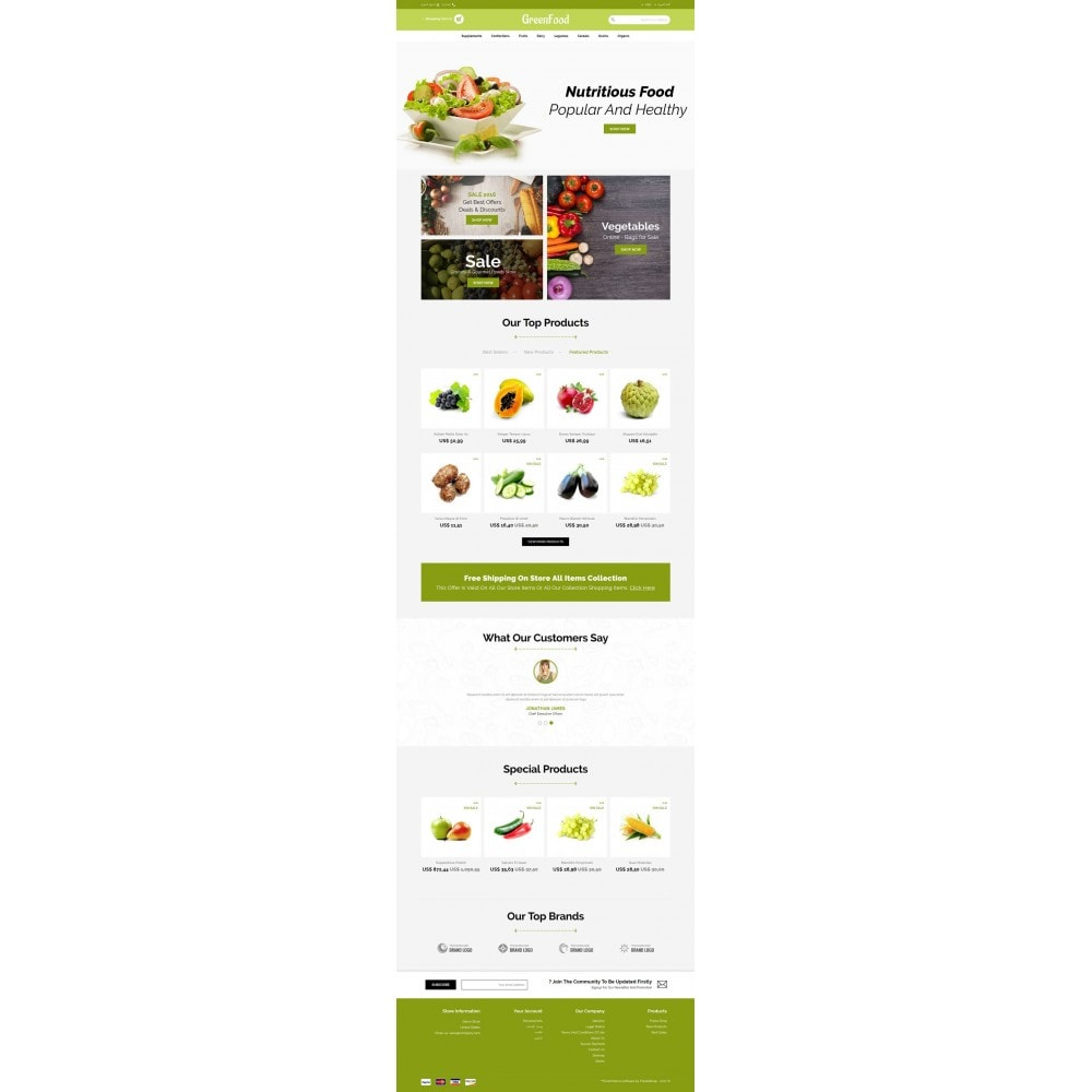 theme - Food & Restaurant - Green Food Store - 6