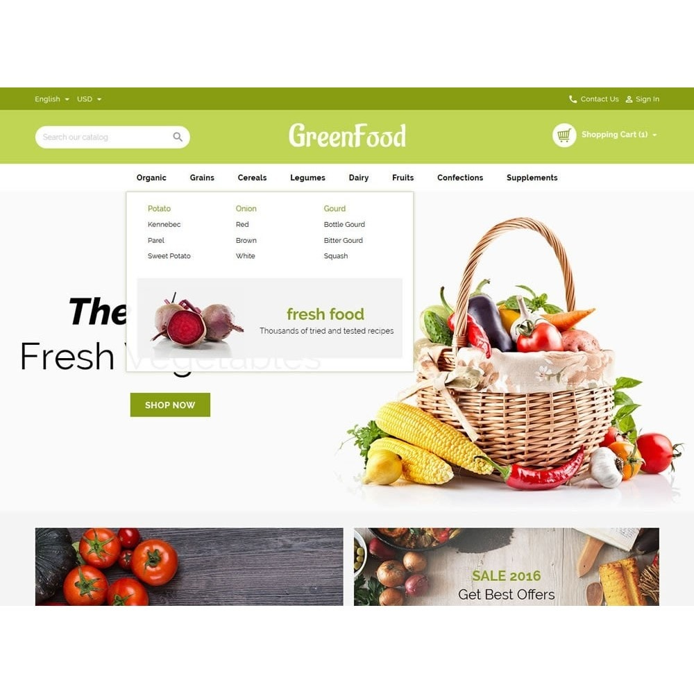 theme - Food & Restaurant - Green Food Store - 8