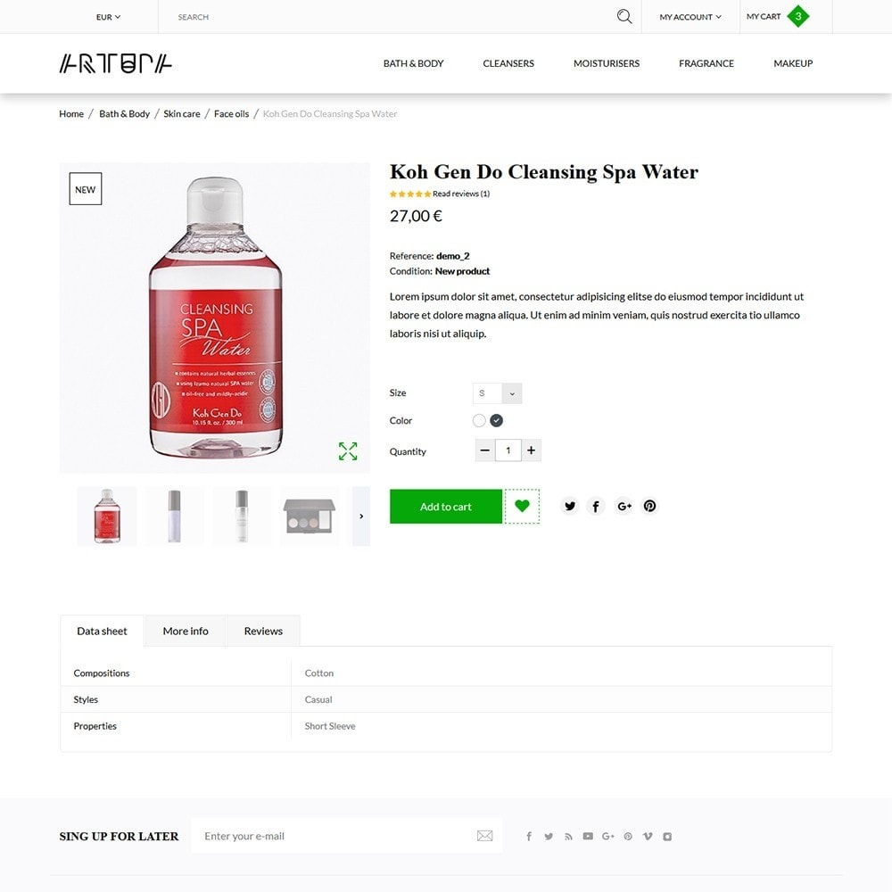 theme - Здоровье и красота - Artupa Cosmetics - 5