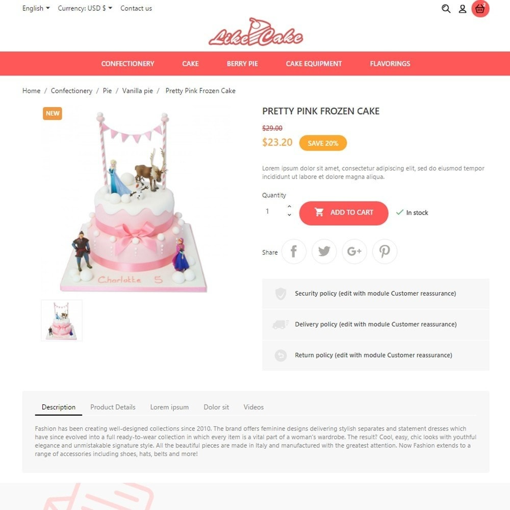 theme - Lebensmittel & Restaurants - Like Cake - 7
