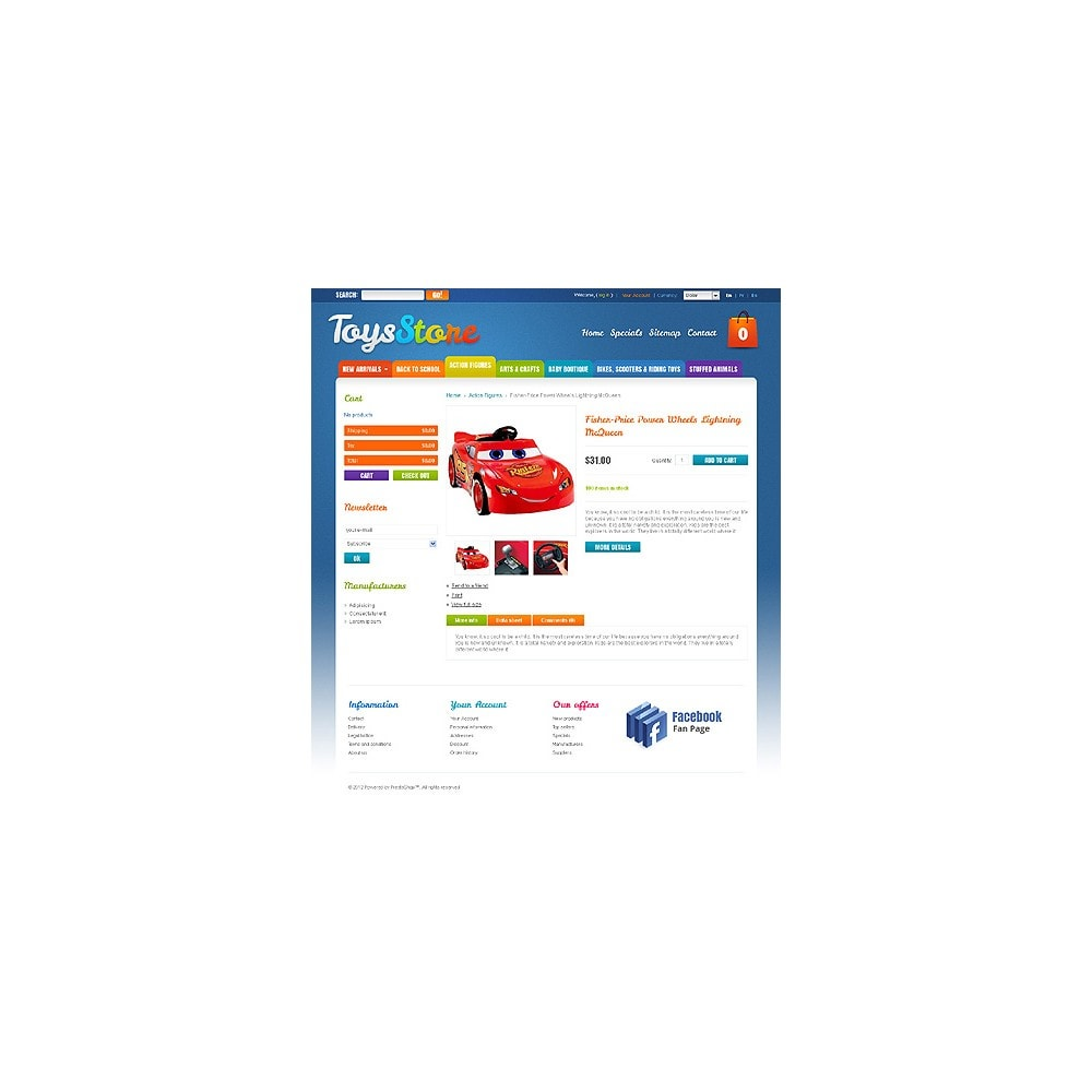 theme - PrestaShop Themen - Toys for Kids - 2