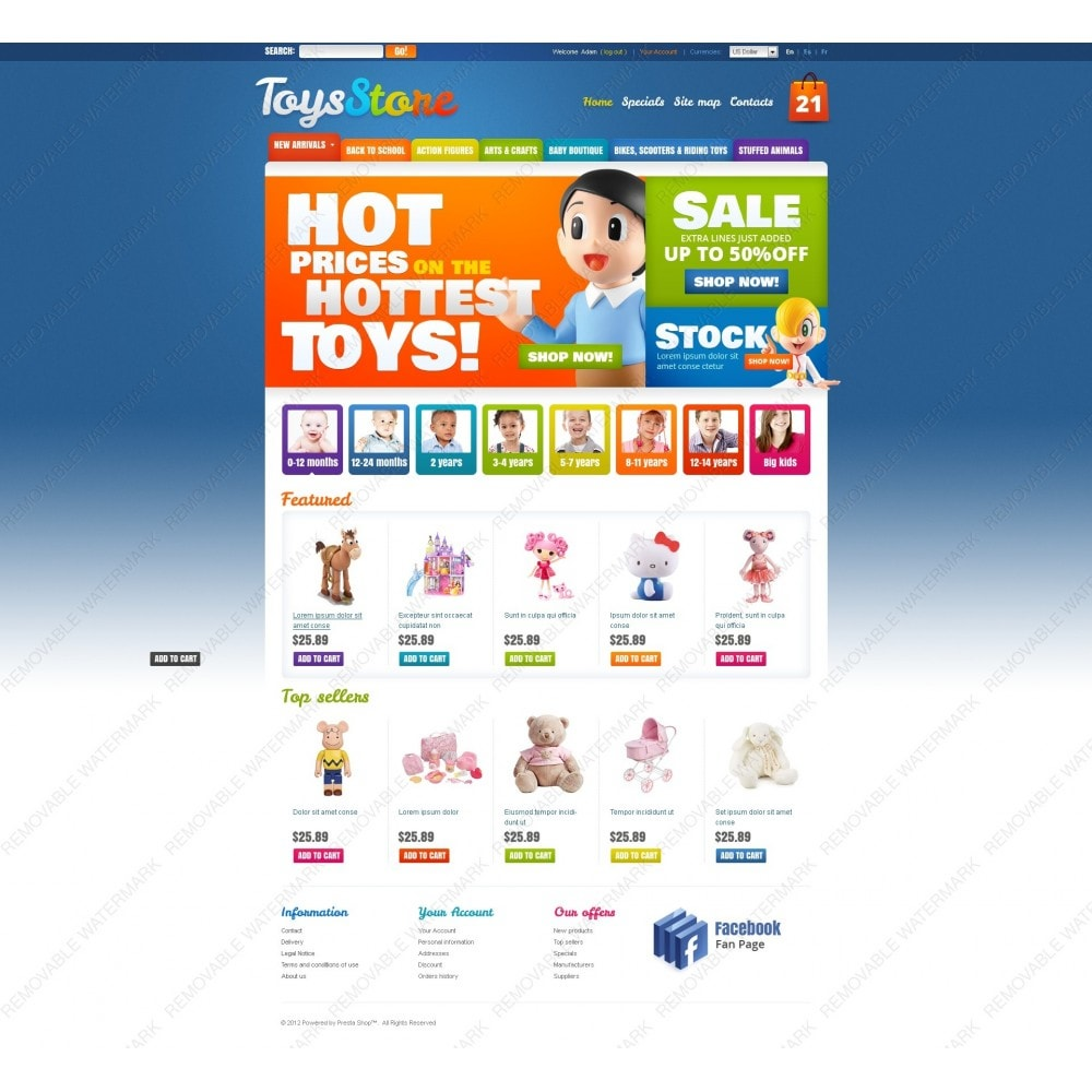 theme - Thèmes PrestaShop - Toys for Kids - 3