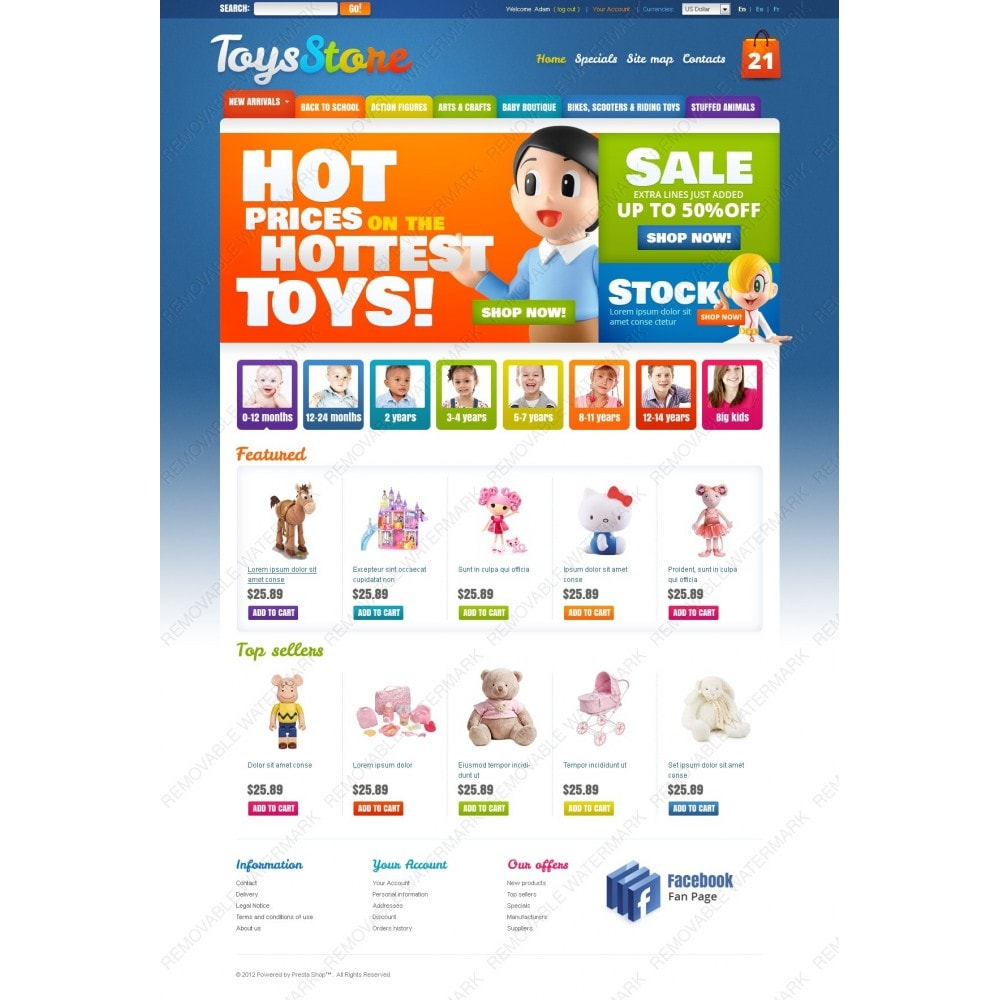theme - PrestaShop Themen - Toys for Kids - 6