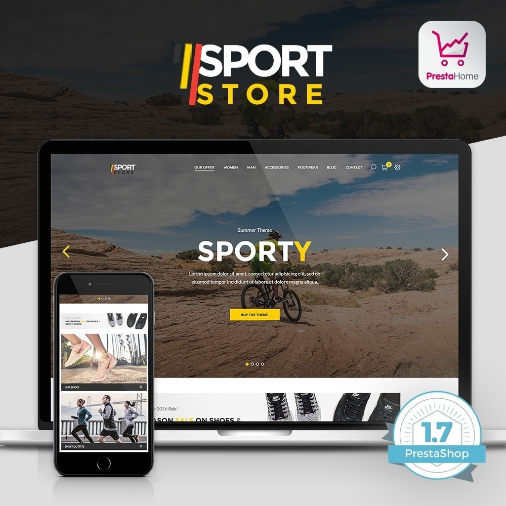 theme - Sport, Attività & Viaggi - Sport Store by PrestaHome, Clothes & Equipment - 1