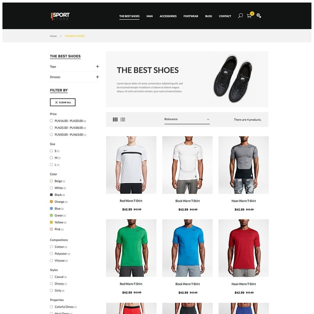 theme - Sports, Activities & Travel - Sport Store by PrestaHome, Clothes & Equipment - 3
